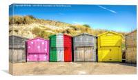 Beach chalets, Canvas Print