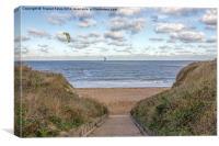 Kite surfing at Botany Bay, Canvas Print