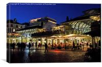 Covent garden at night, Canvas Print