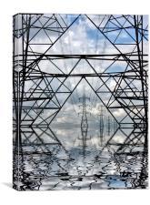 Abstract pylons, Canvas Print