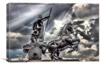 Statue of Boudica, Canvas Print