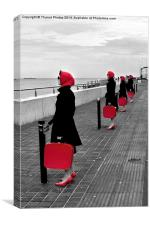 Red Ladies, Canvas Print