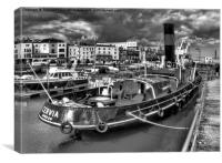 ST Cervia in Mono, Canvas Print