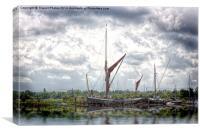 Thames barge , Canvas Print