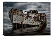 Ghost ship, Canvas Print