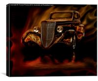 Ghost driver, Canvas Print