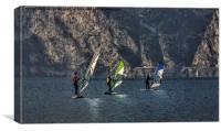 Wind surfing, Canvas Print