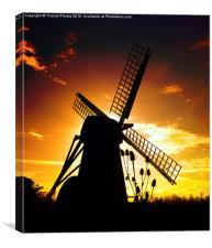Windmill sunset, Canvas Print