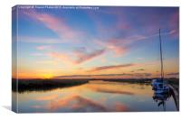 Sunset on the Broads, Canvas Print