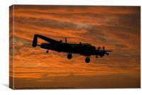 Avro Lancaster at Dawn, Canvas Print