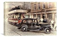 Paisley District Tram - Hand Tinted Effect, Canvas Print