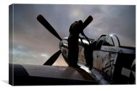 Mustang Pre-Flight Checks, Canvas Print