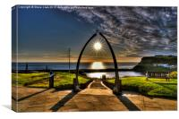 Whale Jaw Bone Arch- Whitby, Canvas Print
