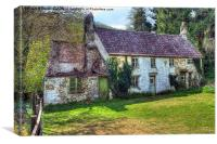 Dilapidated Cottages in Tintern, Canvas Print