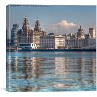 Liverpool's Three Graces, Canvas Print