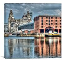 Albert Dock Liverpool (Square), Canvas Print