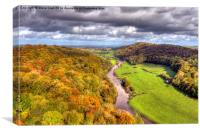 Autumn view from Yat Rock, Canvas Print
