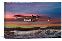 Consolidated PBY-5A at Sunset (US Navy Version), Canvas Print