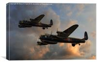 BBMF and Canadian Warplane Heritage Museum Lancas, Canvas Print