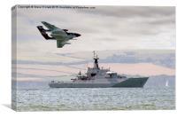 Royal Navy - HMS Mersey and Sea Vixen, Canvas Print