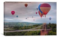 02 Bristol Balloon Fiesta, Canvas Print