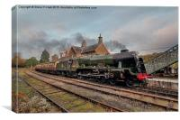 46100 Royal Scot at Highley Station, Canvas Print