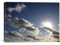 Cloudy blue sky, Canvas Print