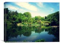 Central park lake, Canvas Print