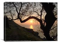 Sunset north devon, Canvas Print
