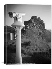 Valley of the rocks telescope, Canvas Print