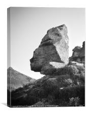 Rock valley of the rocks, Canvas Print