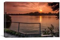 Sunset on the Dam, Canvas Print