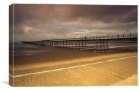 Southport Golden Pier, Canvas Print