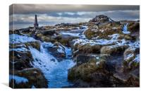 Stoodley Pike in Winter, Canvas Print
