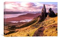 The Old Man of Storr, Skye, Canvas Print