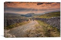 Sunset over Horton Moor, Canvas Print