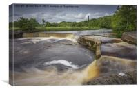 Storm hits the Ribble at Settle, Canvas Print