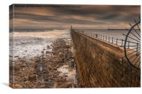 Tynemouth Harbour, Northumberland, Canvas Print