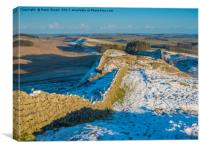 Hadrian's Wall, Northumberland, Canvas Print
