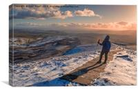 Winter on Pen-Y-Ghent, Canvas Print