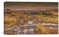 Stoodley Pike and the Pennine Way, Canvas Print