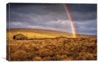 Dales Rainbow, Canvas Print
