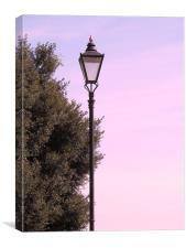 Old Lamp post, Canvas Print