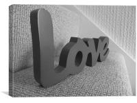 Black and White Love, Canvas Print