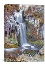 Winter Waterfall in Derbyshire, Canvas Print