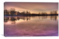 Winter Sunset Color, Canvas Print