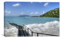 Ocean Swell in Tortola, Canvas Print