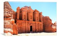 The High Temple, Petra, Canvas Print