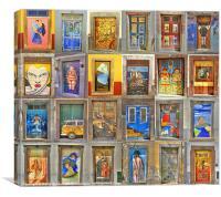 Funchal Door Art Collage., Canvas Print