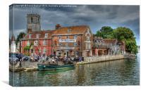 Wareham Quay, Dorset, Canvas Print